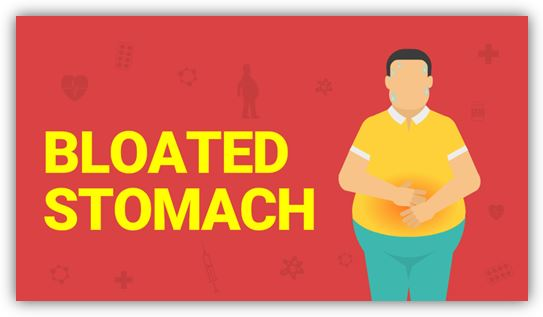 Causes of bloated stomach