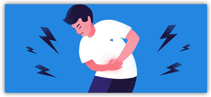Causes of lower back and bloated tummy