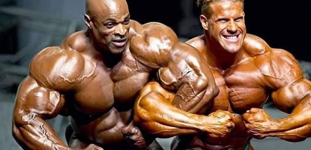 Jay cutler and Ronnie coleman