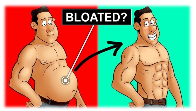 Lower back pain and bloated tummy