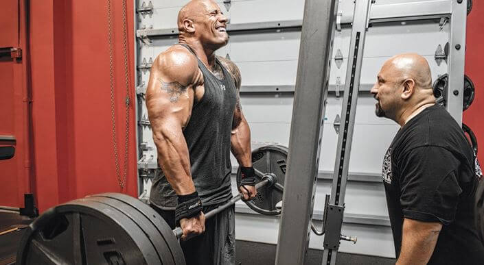 The Rock Dwayne Johnson exercise plan
