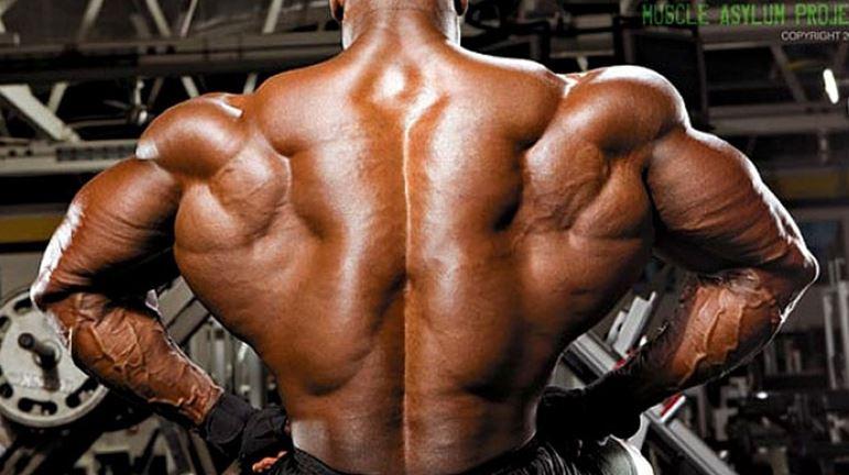 huge back muscles